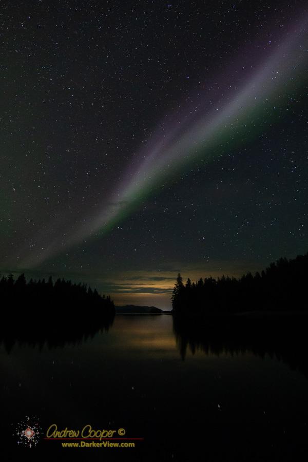 Aurora over Helm Bay
