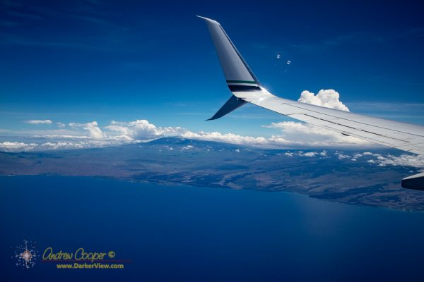 Kohala coastline from the air