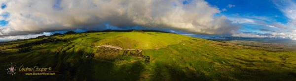 The Kohala taken from the drone on a windless afternoon