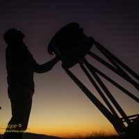 "Awaiting dark with the 20"" telescope"