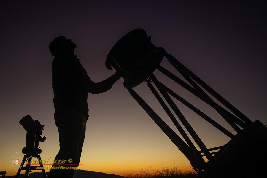 """Awaiting dark with the 20"""" telescope"""
