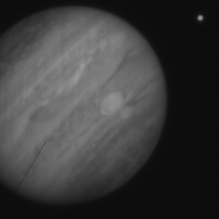 A raw widefield 1.2um NIRC2 image of Jupiter taken 21July2006, credit Imke de Pater, UC Berkeley