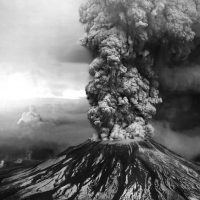The eruption of Mt. St. Helens taken on the morning of May 18th, 1980, photo credit USGS