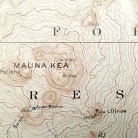 USGS quadrangle map of Mauna Kea from 1930