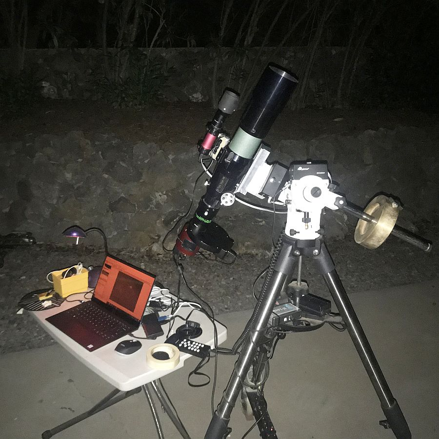 Astrophoto setup running in the driveway