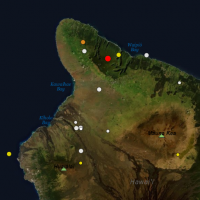 A plot of the magnitude 3.1 in North Kohala on the morning of Nov 9, 2019