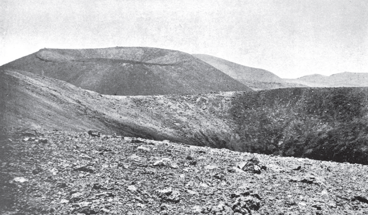 A photo of the Mauna Kea summit area from the Preston expedition of 1892