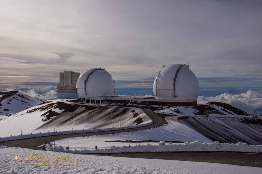 Keck Observatory in the snow