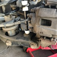 New sway bar links in the vehicle