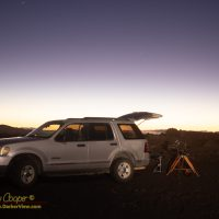 Shooting a comet C/2020 F3 NEOWISE in the Humuʻula Saddle