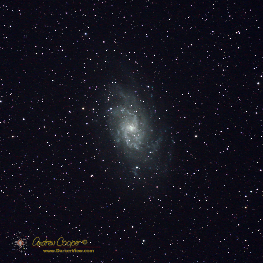 The Triangulum Galaxy, M33, 15x120s exposures using a Canon 6D and a TV-76mm 'scope