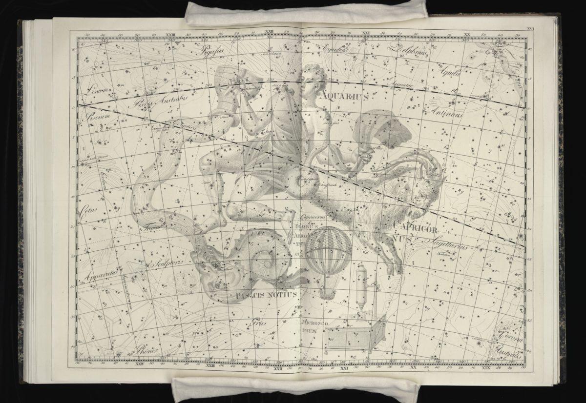 Plate 16 of Uranographia by Johann Bode (Berlin, 1801)