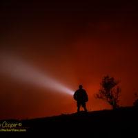 Gazing into the red glow of Kilauea Caldera