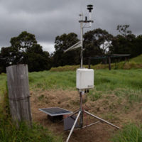 Weather and SO2 monitoring station